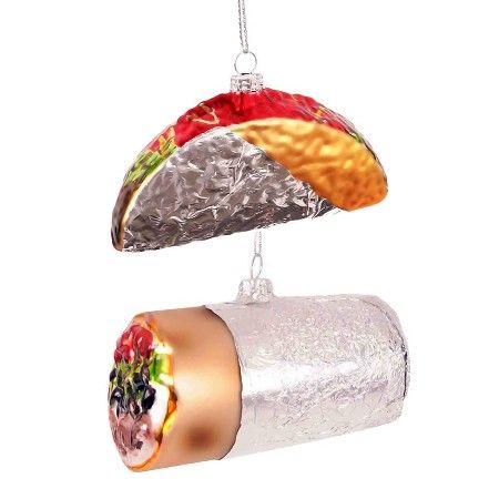 Burrito/Taco Glass Christmas Ornament (Assorted Styles) - Wondershop™ :  Target - Burrito/Taco Glass Christmas Ornament (Assorted Styles) - Wondershop