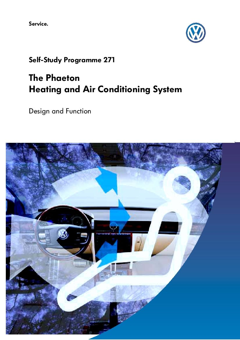 Ssp 271 Phaeton Heating And Ac Pdf Download In 2020 Air Conditioning System Design Air Conditioning System Heating And Air Conditioning