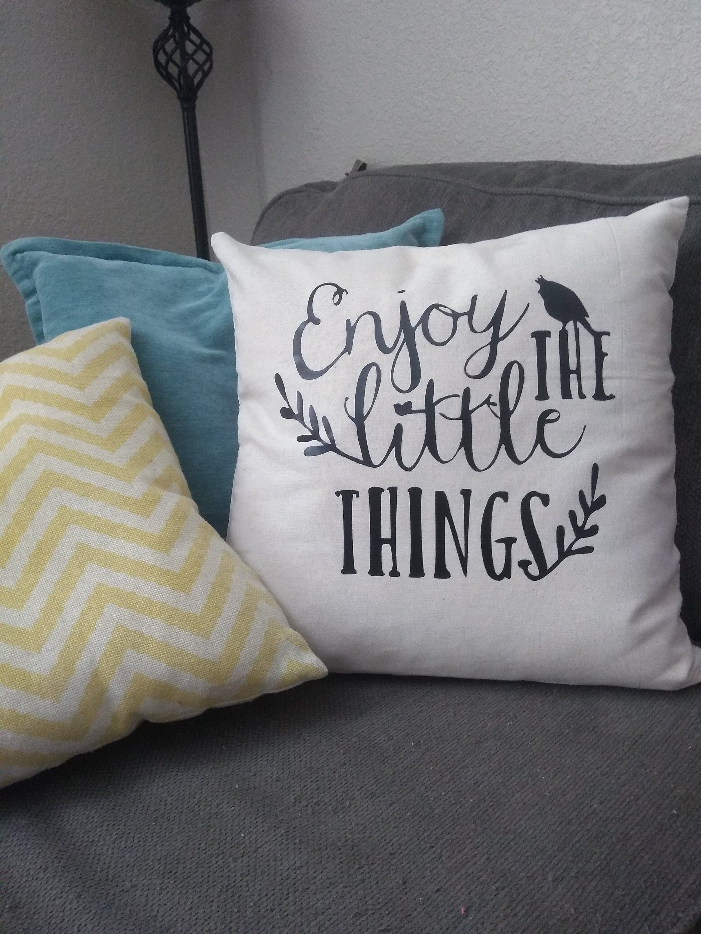 Excited To Share The Latest Addition To My Etsy Shop Enjoy The Little Things Pillow Cover Https Etsy Me 2ennkt Diy Pillow Covers Pillows Etsy Pillow Covers