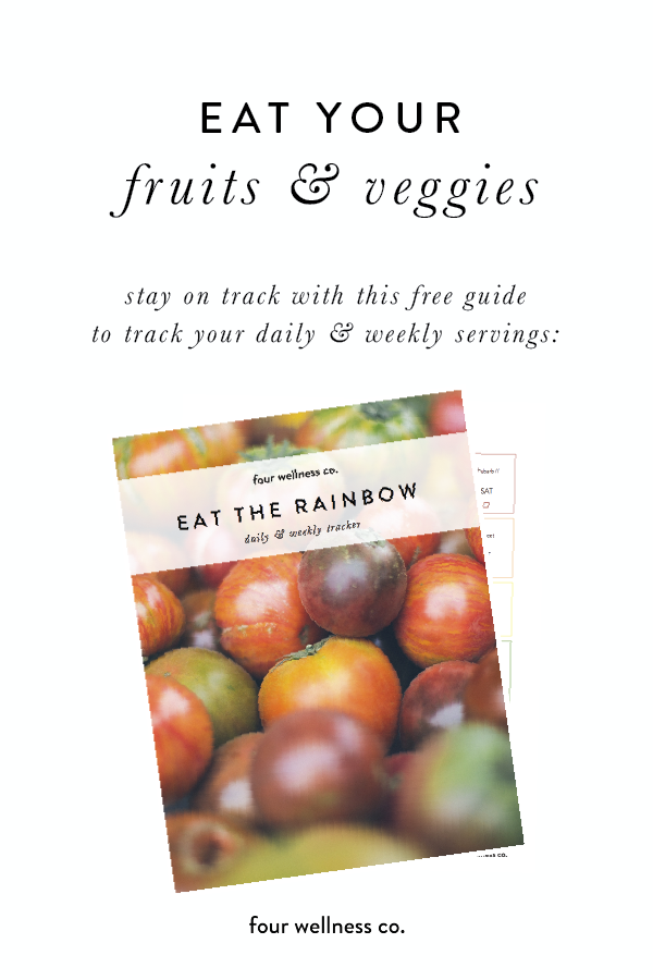 Rainbow: Free daily & weekly fruit & vegetable tracker // Healthy eating tip: eat more fruits & veggies with this tracker designed to make a healthy diet easier to plan and track. More simple nutrition tips at /eat-the-rainbow