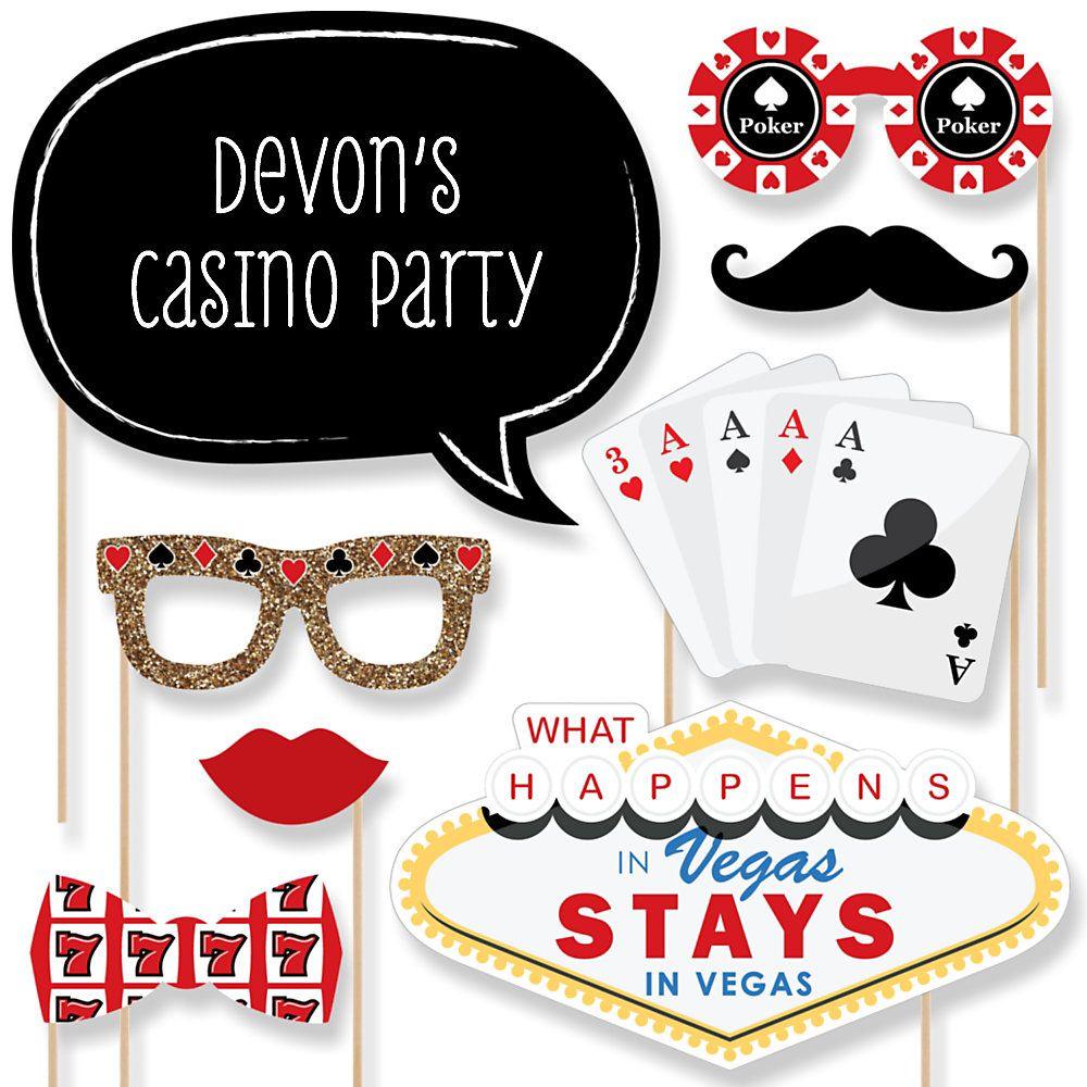 Las Vegas - 20 Piece Photo Booth Props Kit | BigDotOfHappiness.com ...