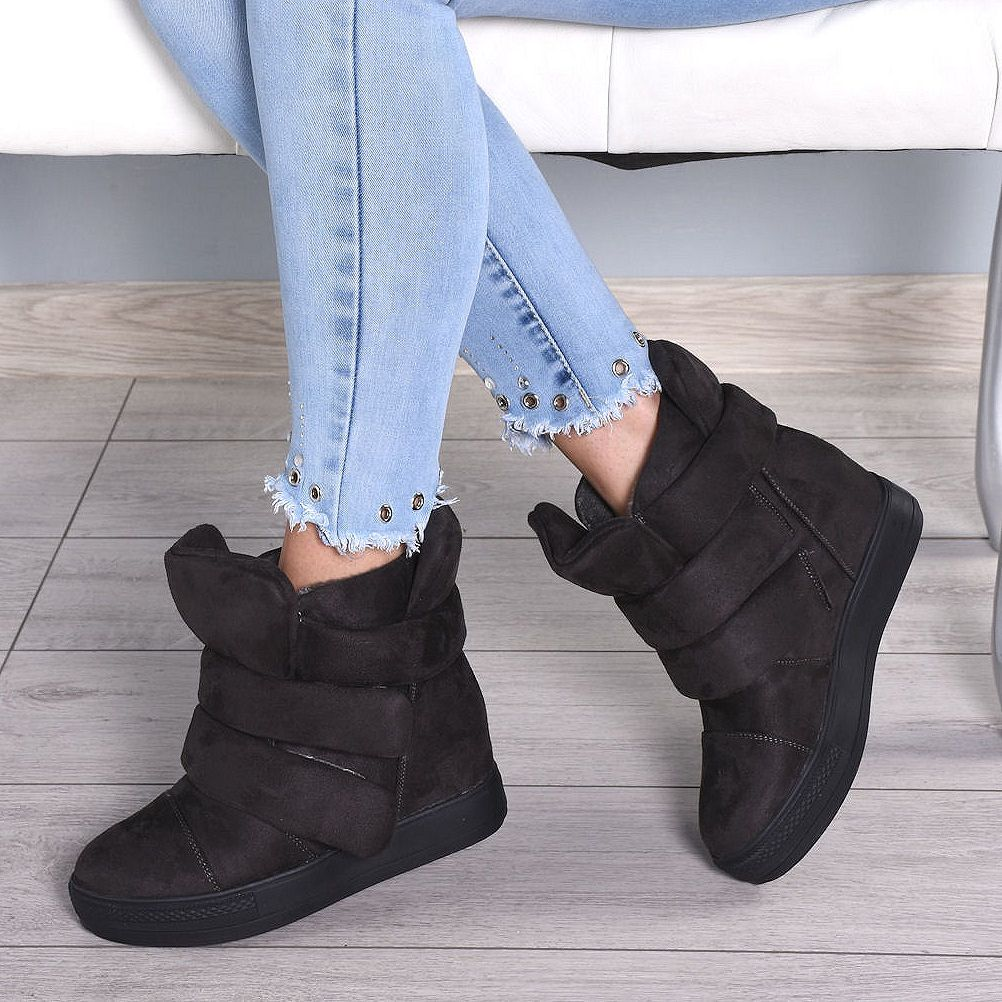 Pin By Stylowebuty Pl On New Collection 2018 19 Fashion Wedge Sneaker Shoes