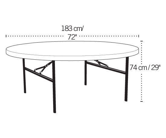 Lifetime Round Folding Table 22673 6 Ft White Top Round Folding Table White Granite Colors Folding Table