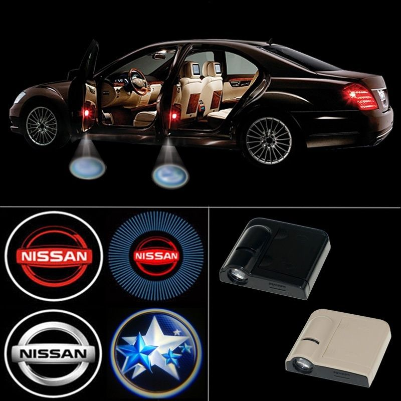 Wireless Led Car Door Light Logo Projector Welcome Ghost Shadow Light For Nissan Sunny Bluebird Tiida Teana Livina Gt R Qashqai Wish Nissan Sunny Nissan Car Door