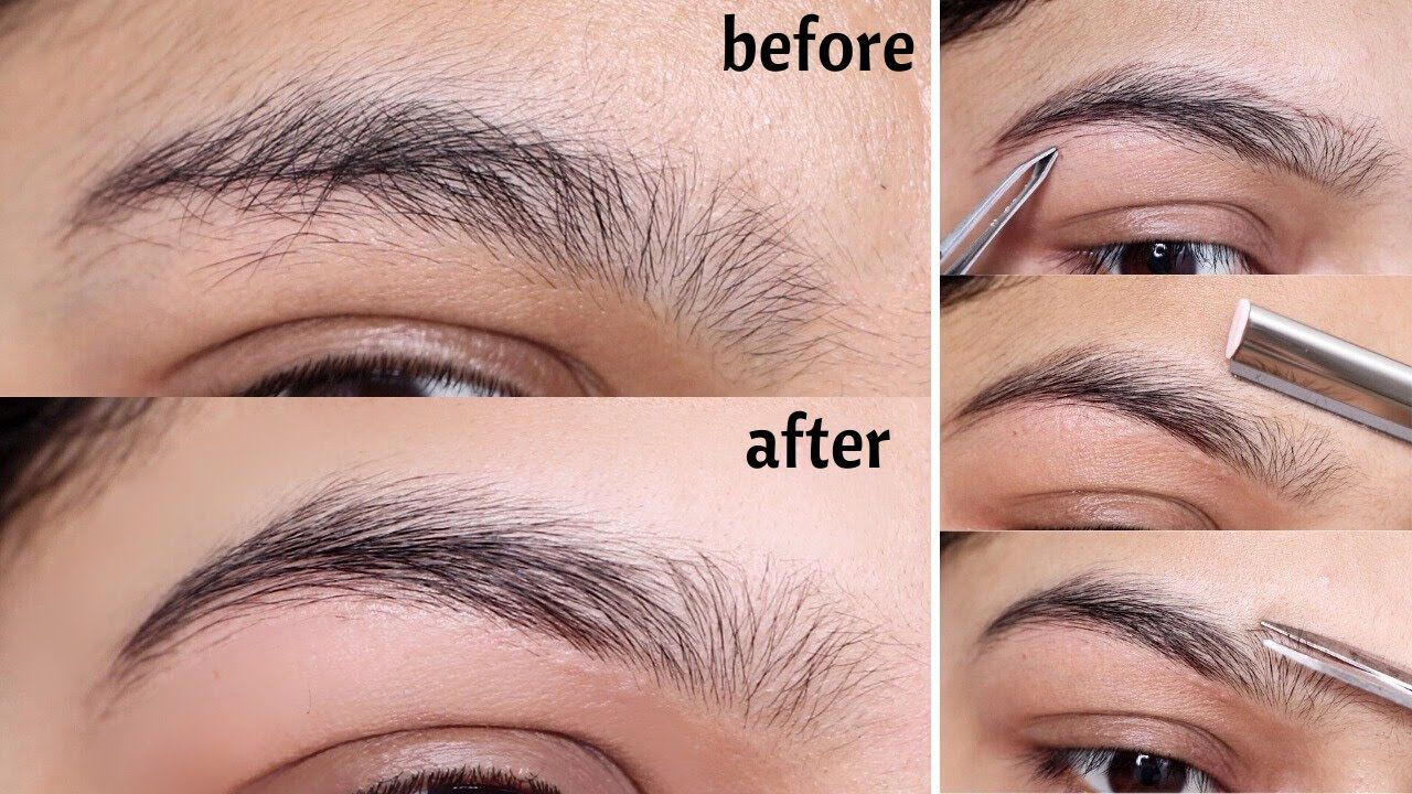 HOW TO GROOM & SHAPE YOUR EYEBROWS AT HOME   EASY EYEBROW ...