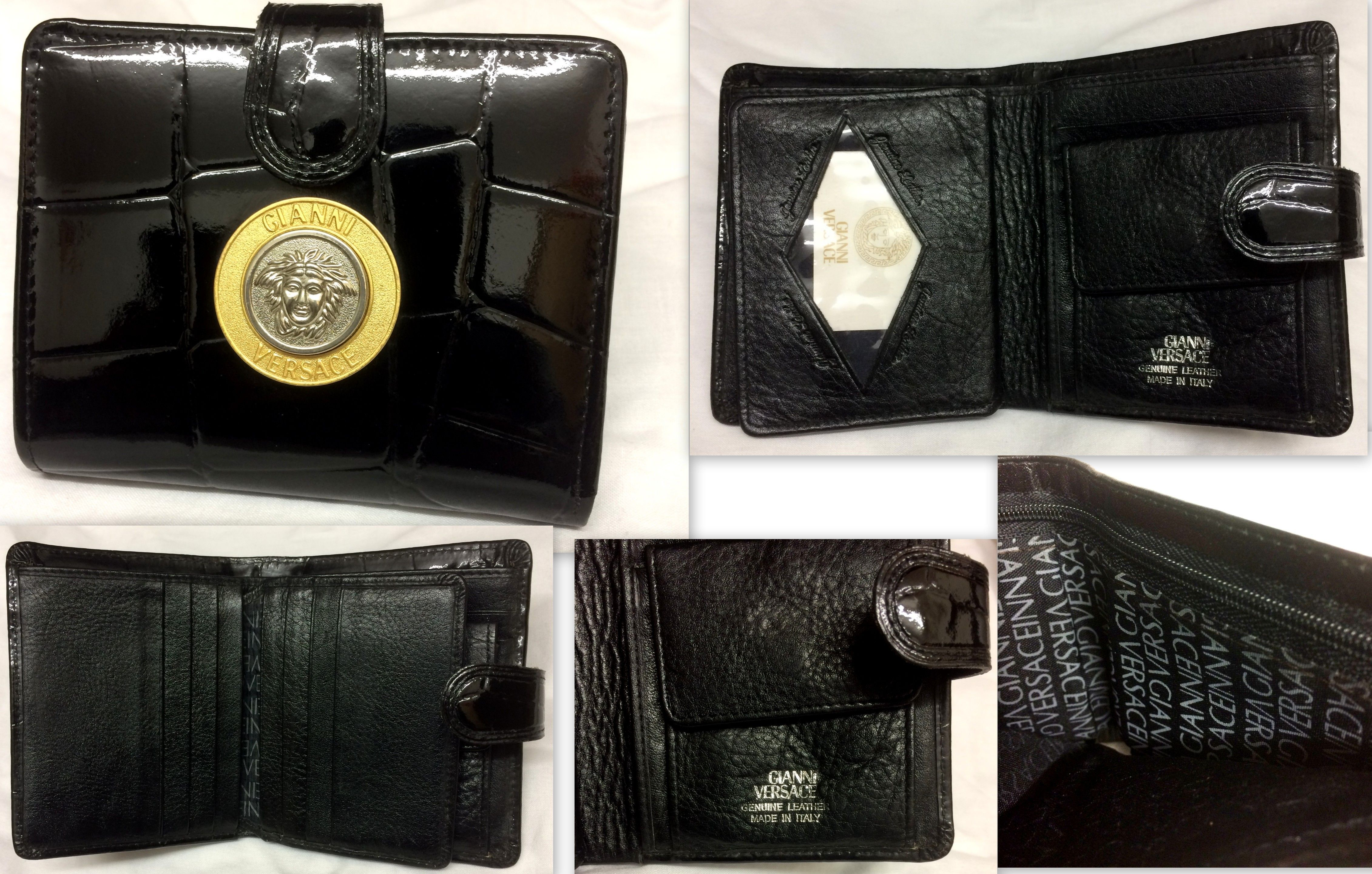 04f5cf22eb Gianni Versace 90s moc croc leather wallet | Gianni Versace 80s ...