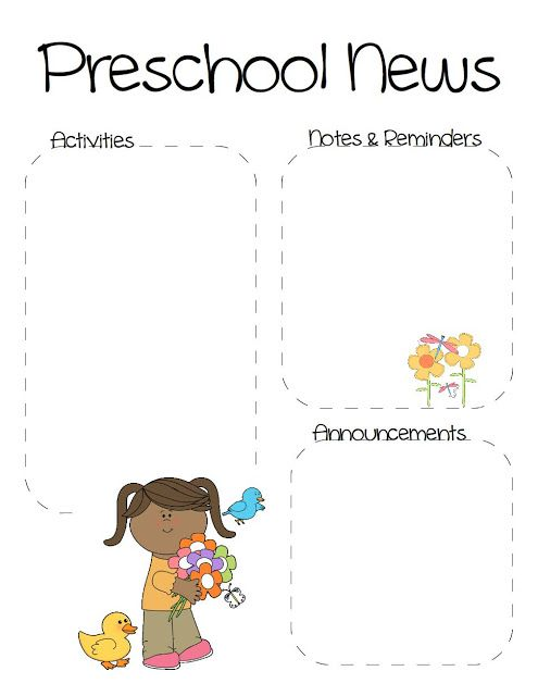 Spring Preschool Newsletter Template  The Crafty Teacher
