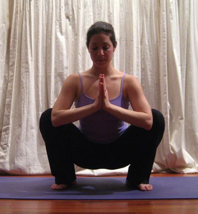 yoga squat to help induce labor and open up hips  popular