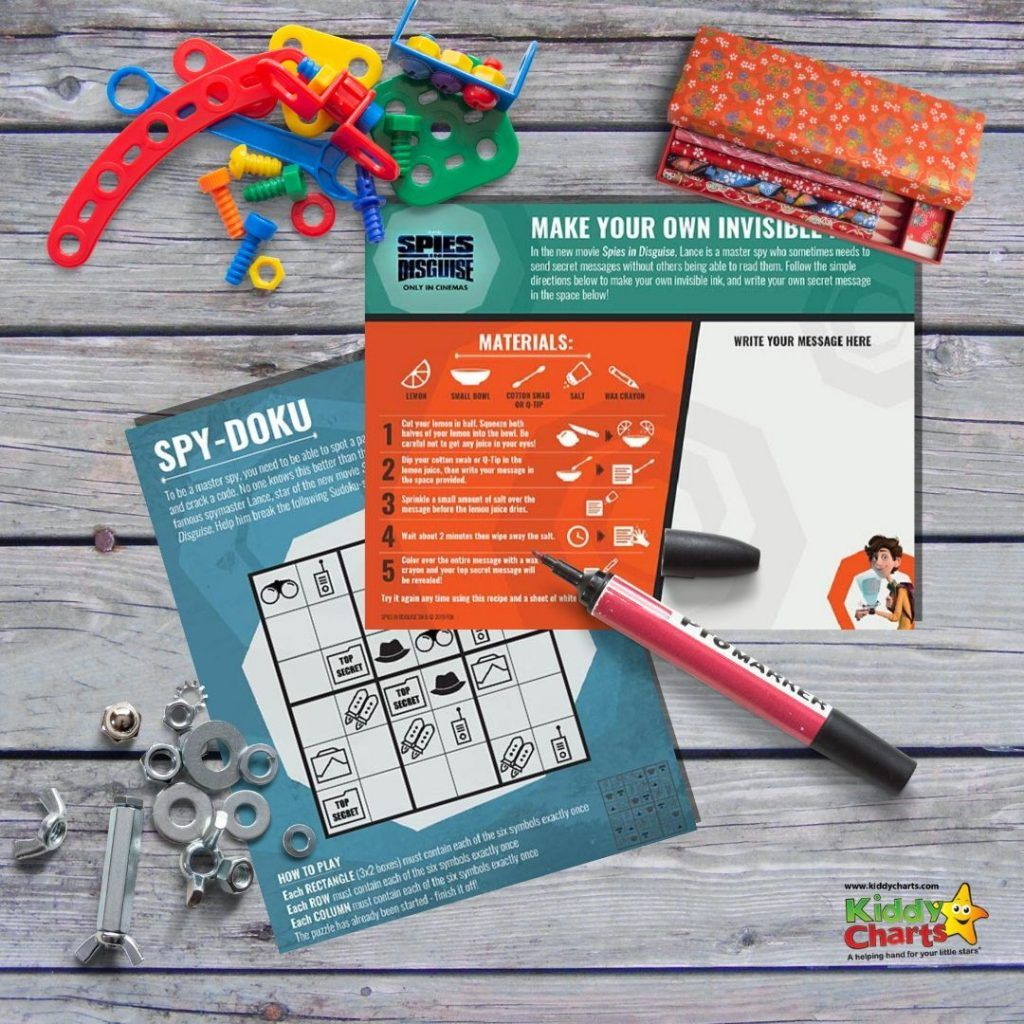 Today We Have A Great Spies In Disguise Activity Pack For