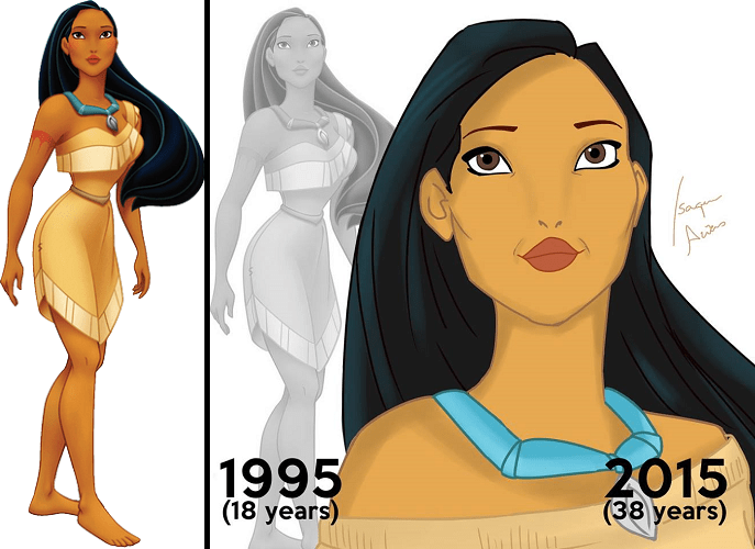 See these classic Disney princess after ageing... | Disney ...