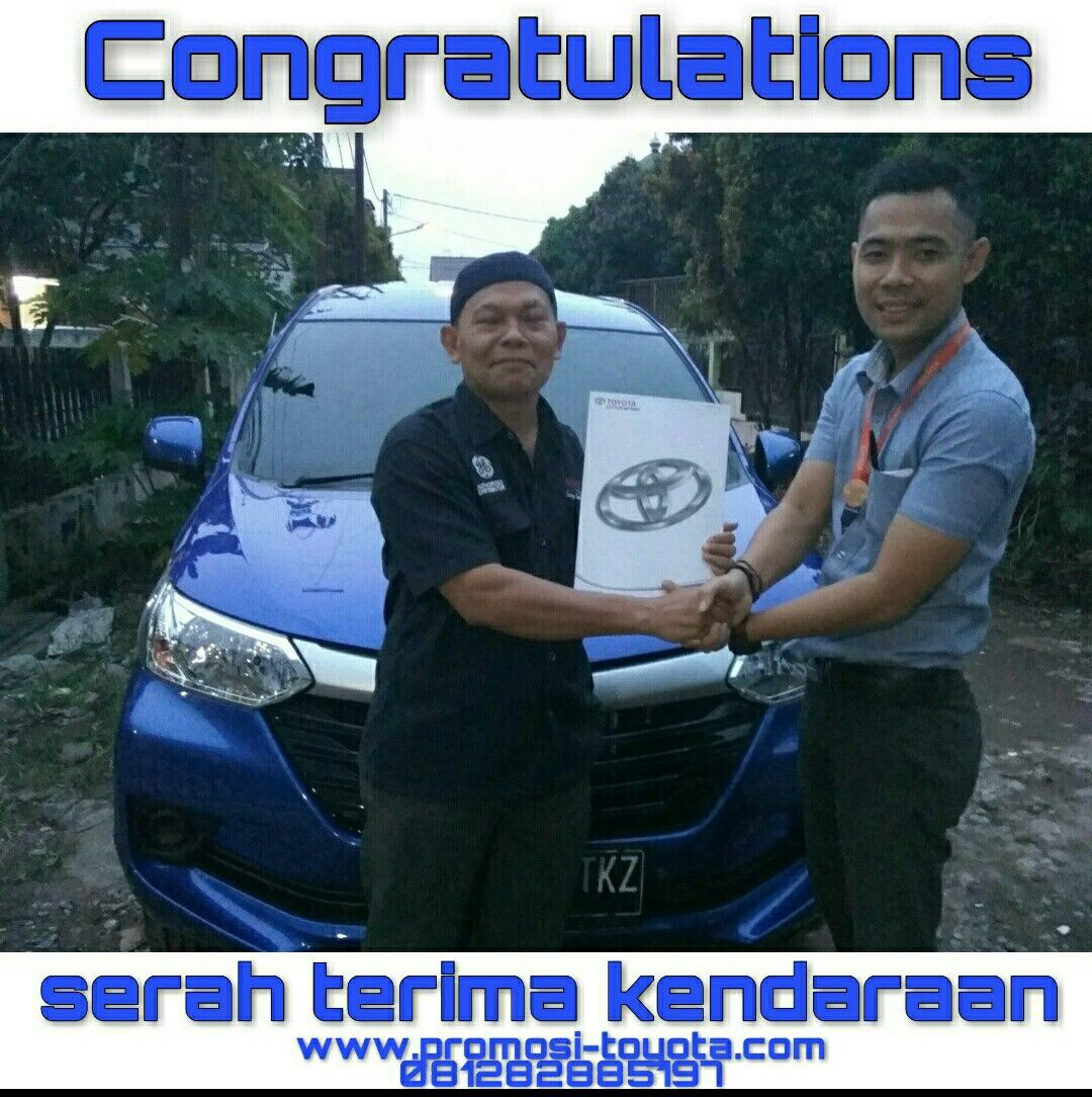 Grand New Avanza Nebula Blue Velg Yaris Trd Www Promosi Toyota Com Mengucapkan Terimakasih Atas Kepercayaan Kepada Bapak Hj Jartono