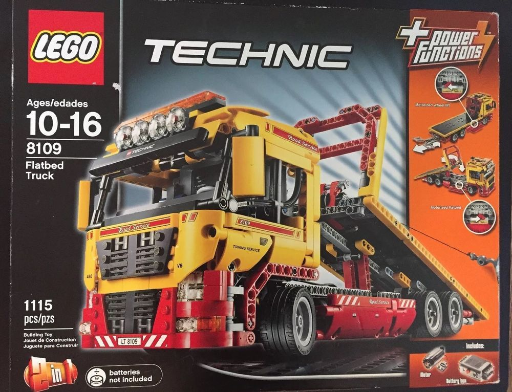 Lego Technic 8109 Yellow Flatbed Truck (2011) 1115 pieces