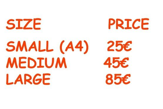 Here are the prices in Euro