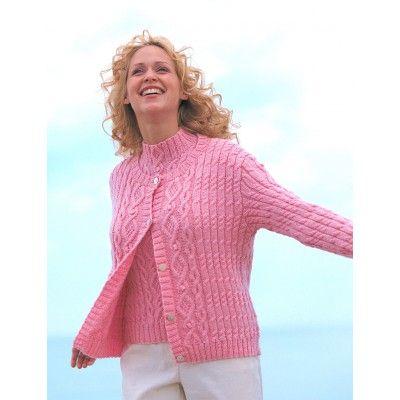 Free Intermediate Womens Cardigan Knit Pattern Hand Knits For