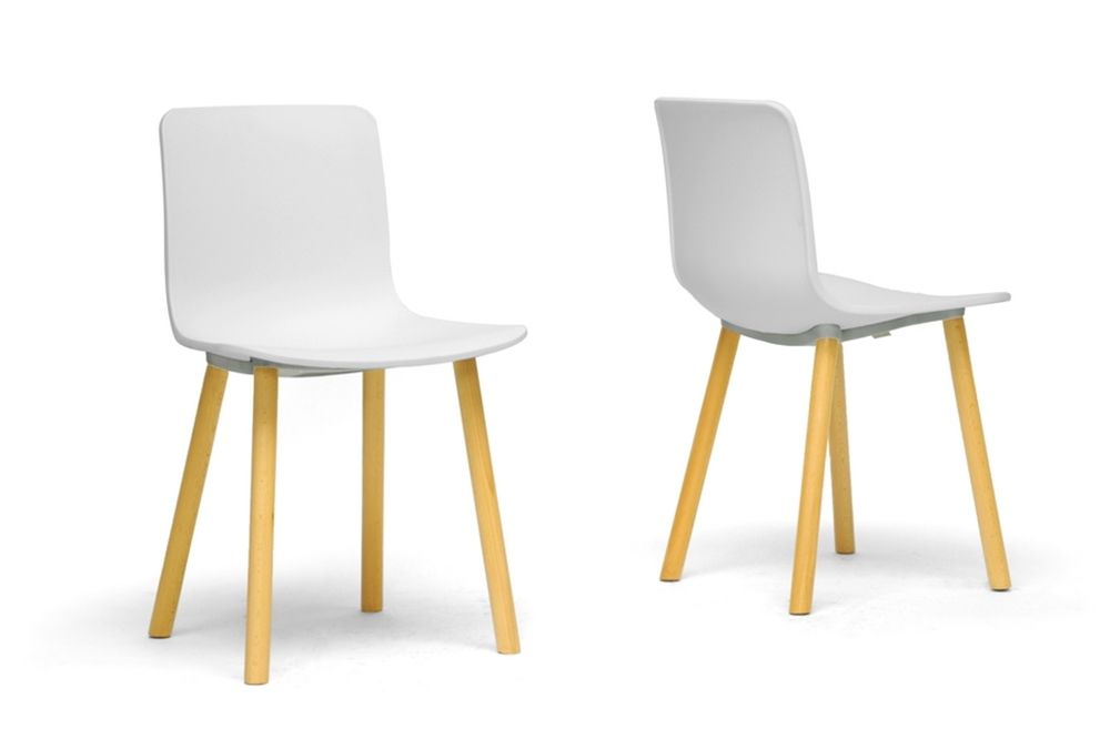 Baxton Studio Lyle White Plastic Modern Dining Chair Set Of 2 Stunning Wholesale Dining Room Chairs Design Ideas