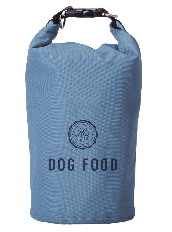 Harry barker blue travel dog food storage bag hurry