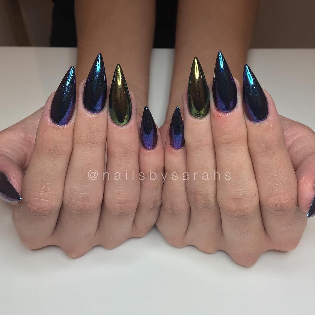 Pin by 🖤D33🥀 on Claws | Pinterest | Chrome nails, Manicure and ...