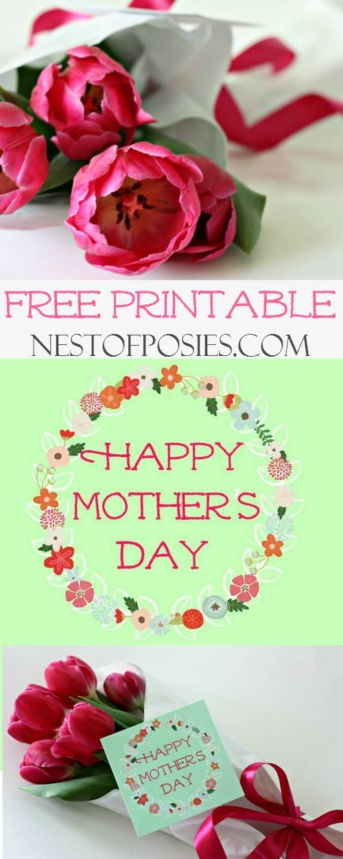 happy mother 39 s day gift tag printable from nest of posies free printable tag mother 39 s day. Black Bedroom Furniture Sets. Home Design Ideas