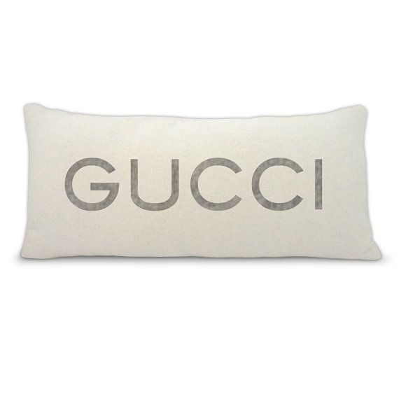 Gucci high fashion accent pillowthrow pillow by BuyAPillow on Etsy, $39.00