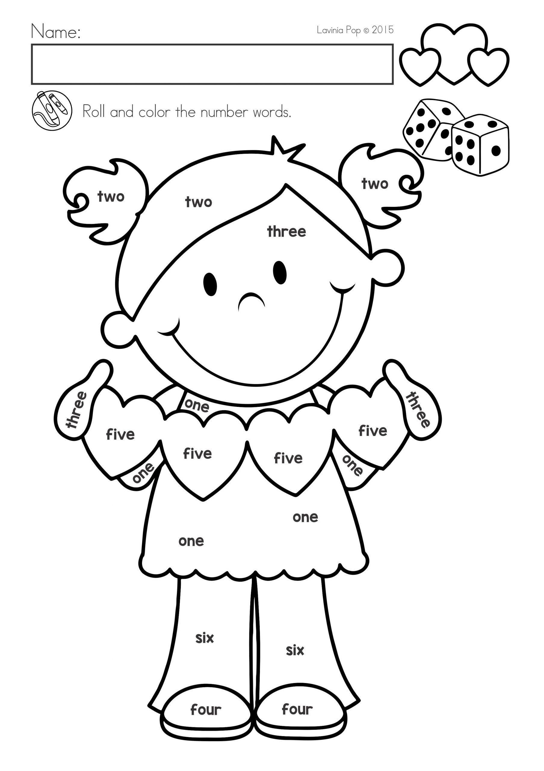 Kindergarten Math Practice Worksheet Coloring Worksheet