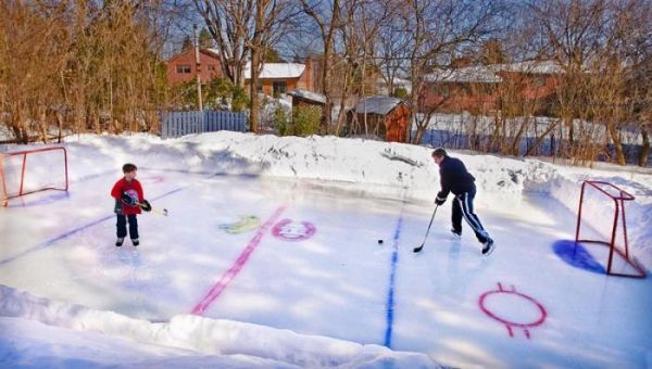 Just over two weeks until camps open up!   Backyard ice ...