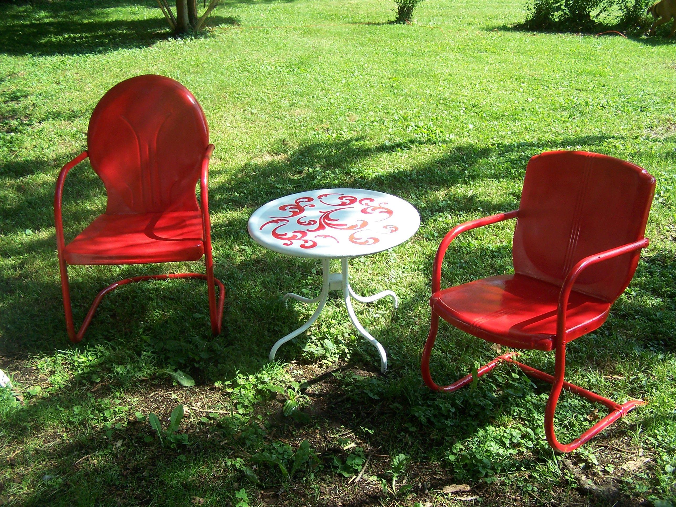 Genial Vintage Metal Lawn Chairs Shabby Chic Pinterest