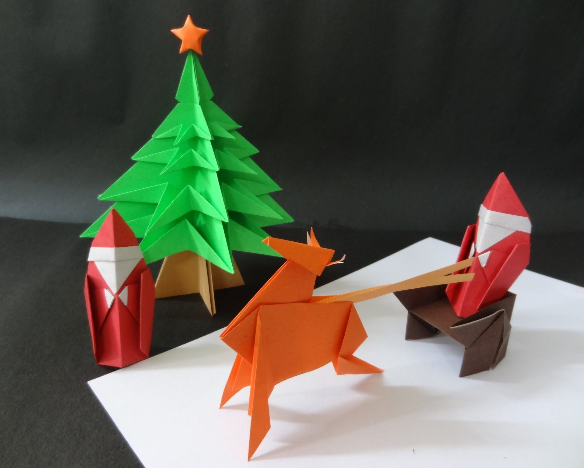christmas origami tutorial on how to fold a modular