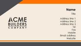 Orange and grey business card template business cards orange and grey business card template colourmoves