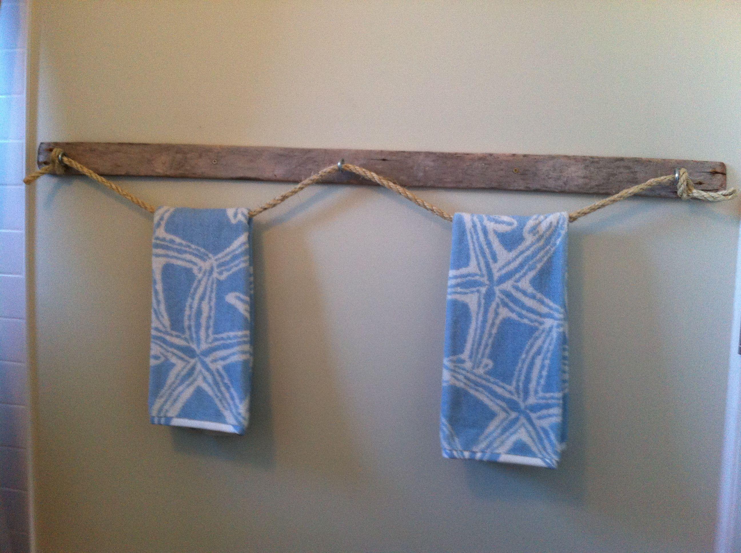 Beach Bath Decor Towel Rack Bathrooms House New Homes