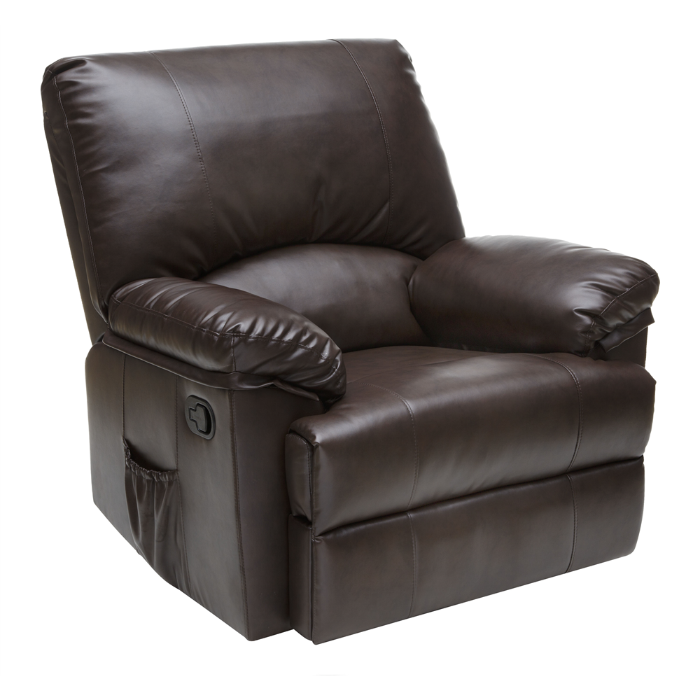 Rocker Recliner With Heat And Massage Brown Marbled Leather Comfort Products Rocker Recliner Chair Leather Recliner Living Room Leather