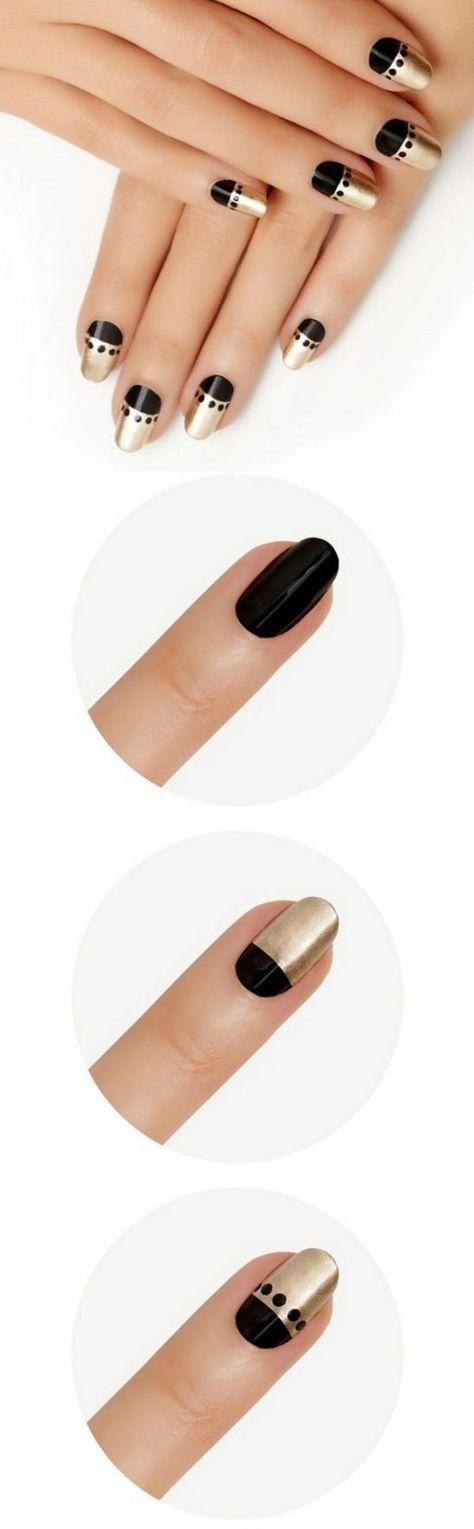 tutorial decoracion de uñas elegantes | cara | Pinterest ...