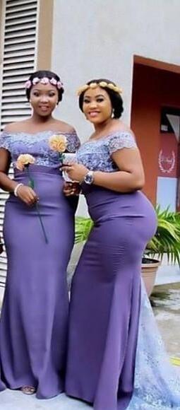 6b8d86a6fd8b Click to Buy << Light Purple Plus Size Long Bridesmaid Dresses Off Shoulder