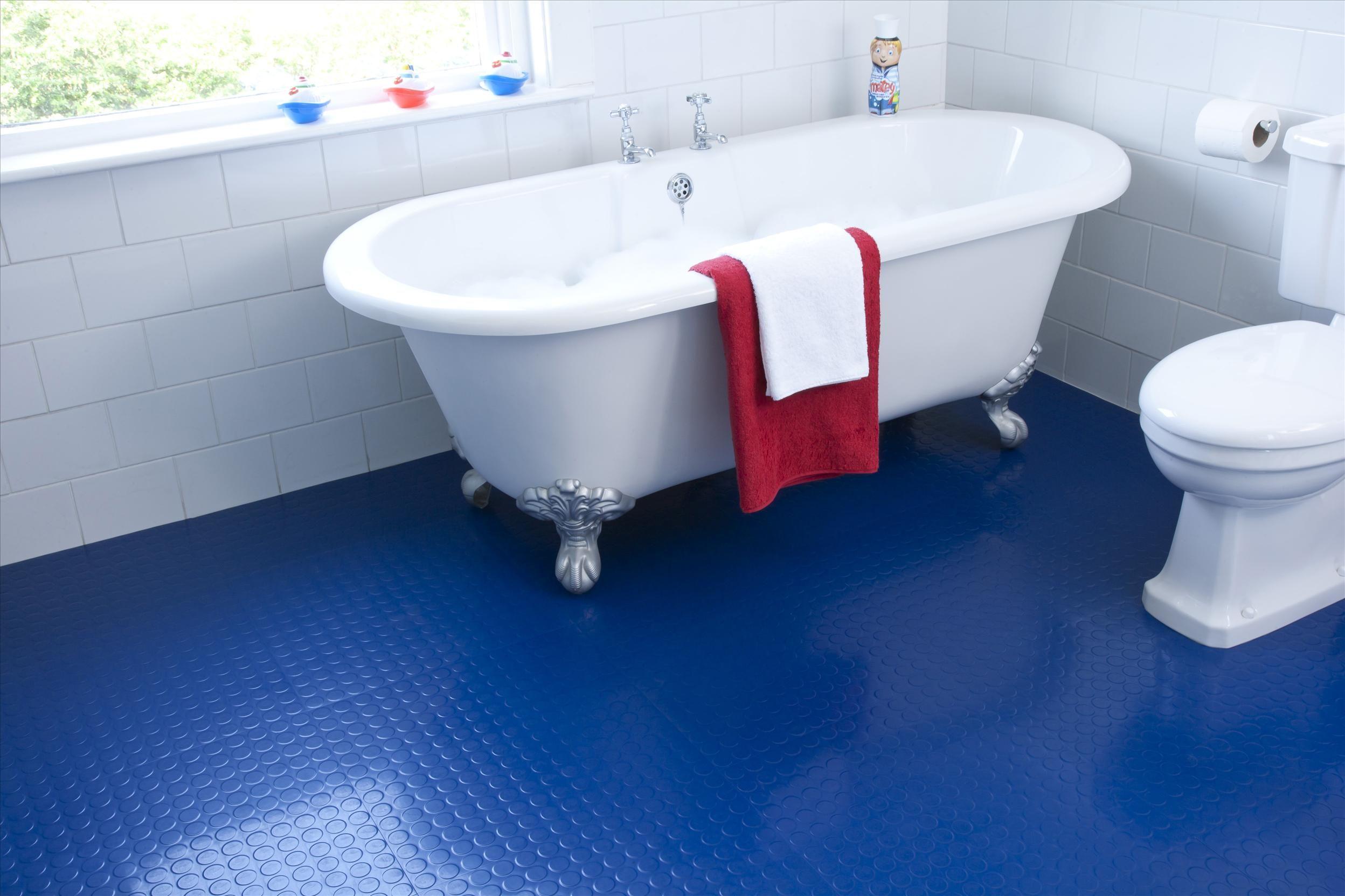 blue bathroom floor tile. Cool Fancy Ideas : Blue Rubber Floor Tile In Minimalist Bathroom Image Id 32108 - GiesenDesign E