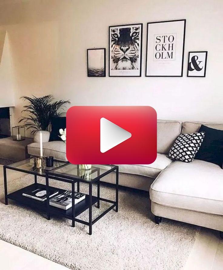 Minimalistische Wohnzimmer-Deko-Ideen #livingroomideas # ...