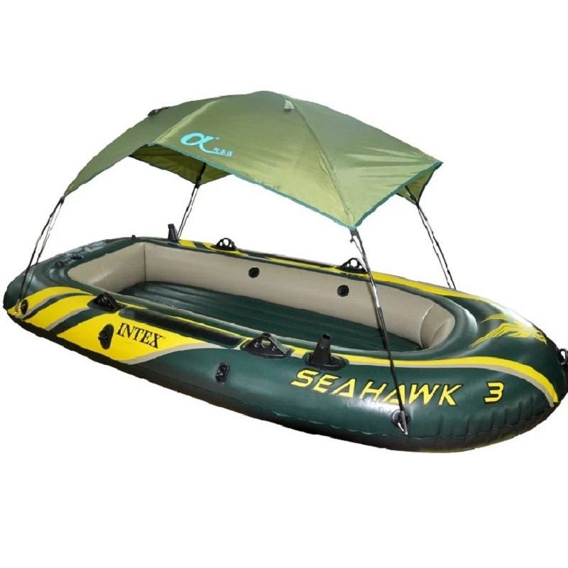 High quality intex seahawk inflatable boat tent sun for Seahawk fishing boat