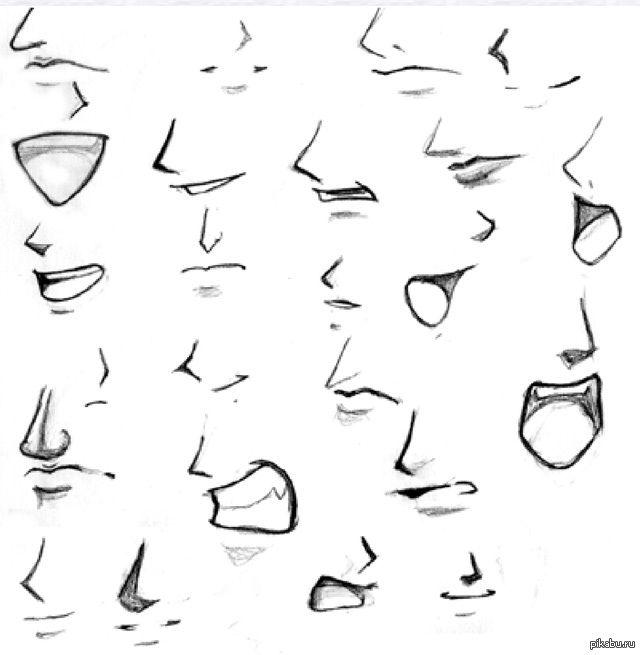 Zarisovki Anime Dlya Nachinayushih Poisk V Google Risunok Nosa