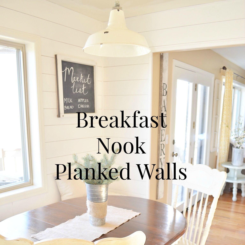 Breakfast Nook Planked Wall Tutorial Sarah Joy Breakfast Nook