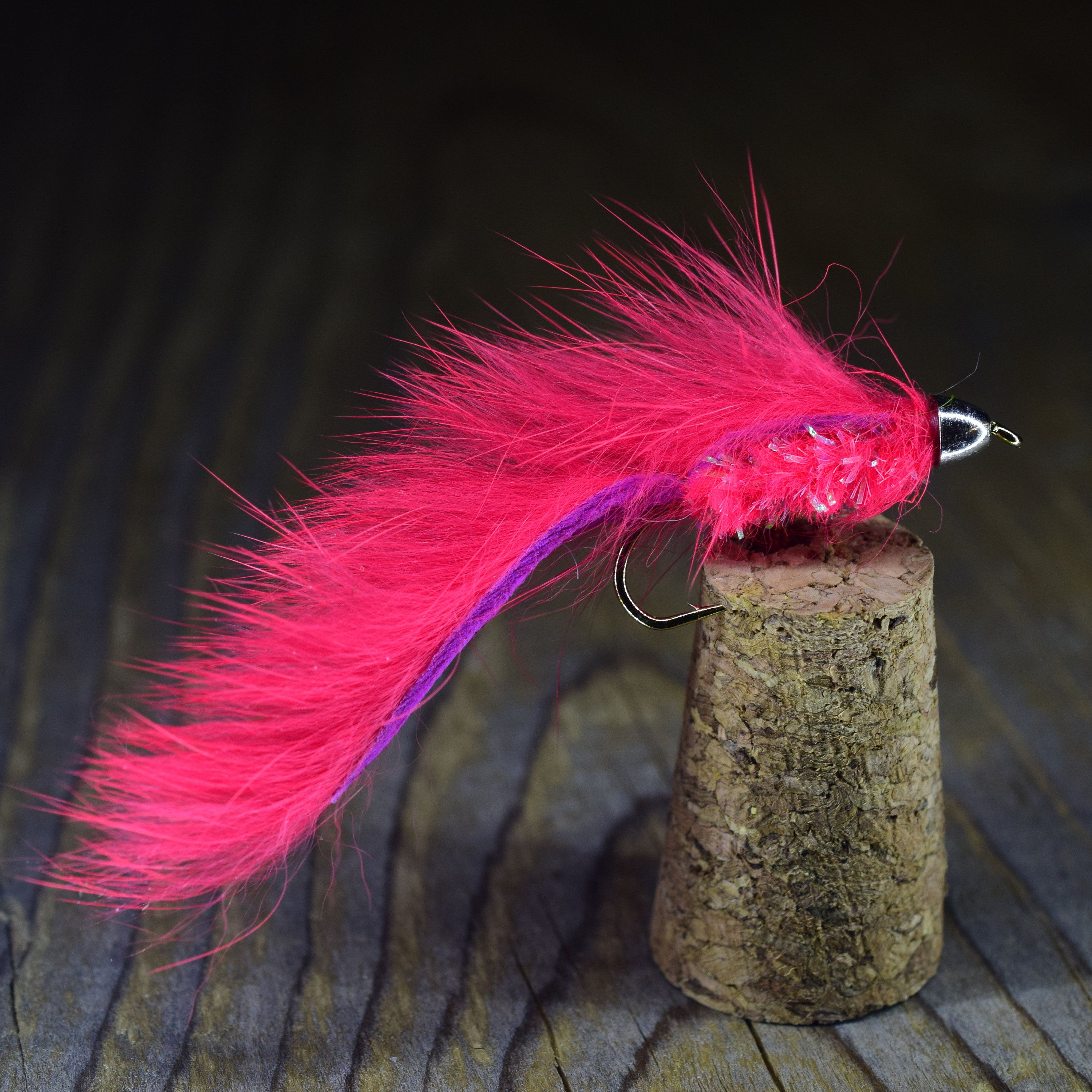 Fly Fishing Bunny Leech Fishing Flies Size 8 6 x Brown /& Chartreuse Leech