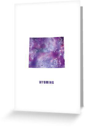 Wyoming   #wyoming #unitedstates #usa #cheyenne #state #map #art #print #greeting #post #card #stationery #gift #ideas #shopping #abstract #travel #minimalist #modern #typography #purple