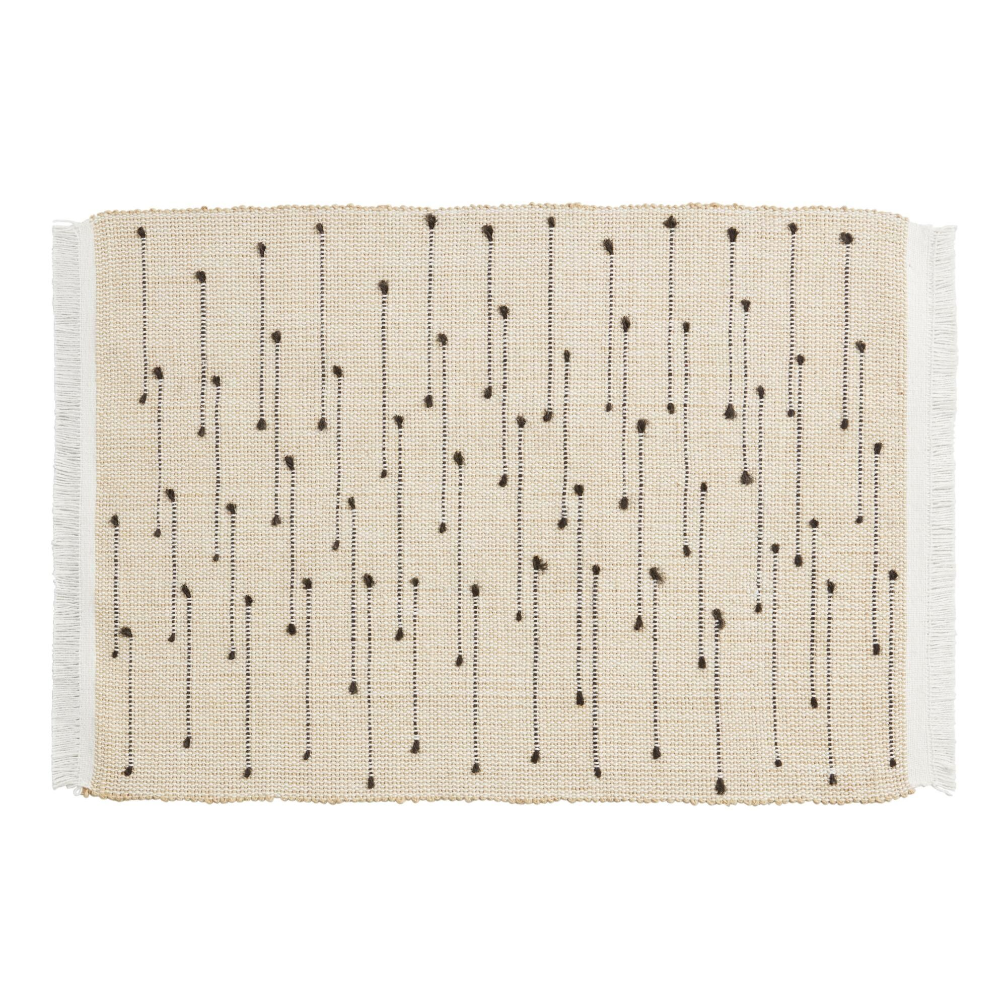 Black Dot Arusha Placemats Set Of 4 In 2020 Placemats Black Dots Linen Table Settings