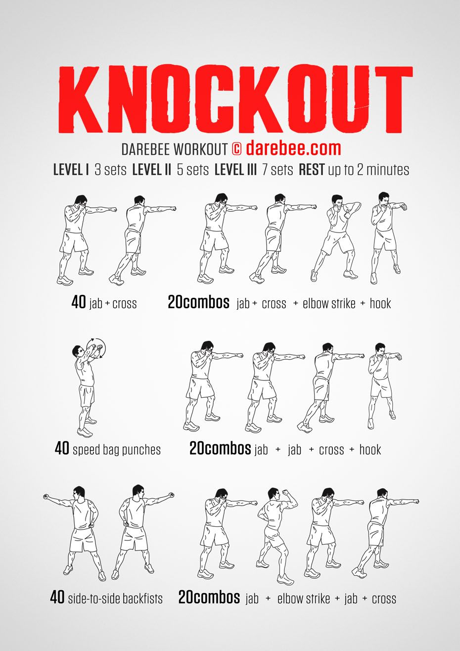 Knockout Workout | Exercise | Pinterest | Workout, Boxing ...