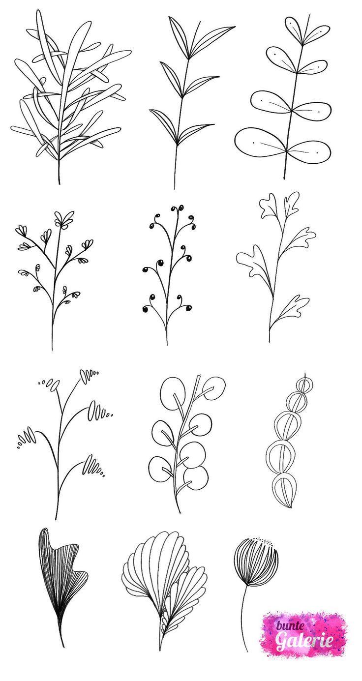 Doodle Elements Floral for Advanced lettres de fleurs de ...