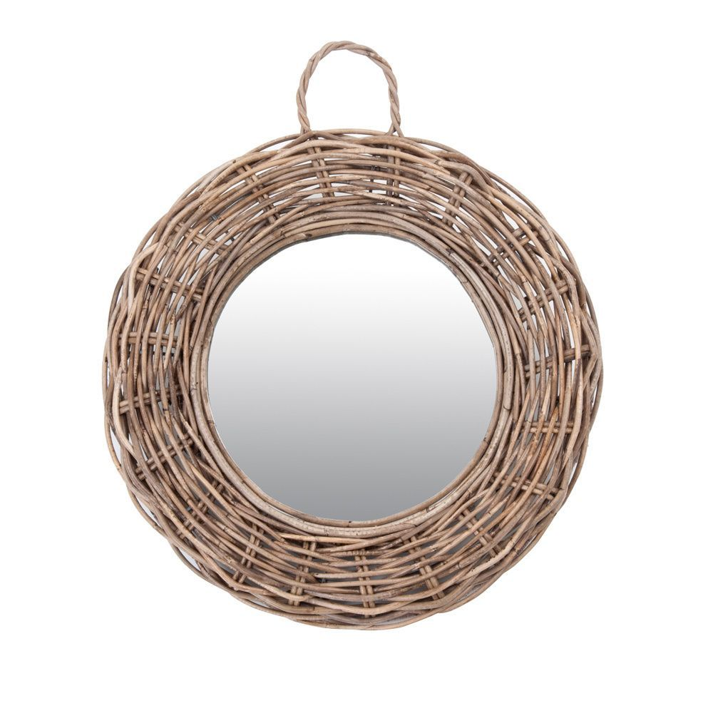 Crafted Home James Rattan Round Mirror-Large
