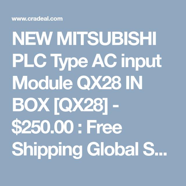 NEW MITSUBISHI PLC Type AC input Module QX28 IN BOX [QX28