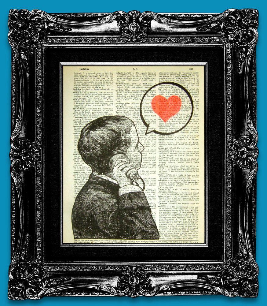 Love print just say love original artwork hand painted art print