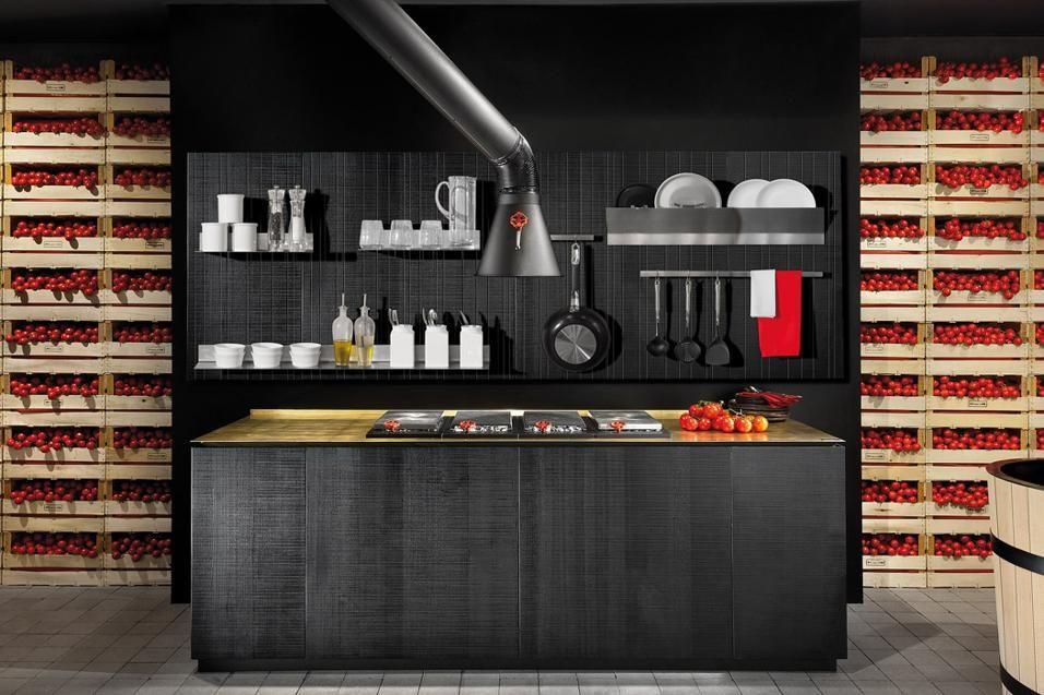 Come attrezzare la cucina. Boiserie attrezzata Wall-play disegnata ...