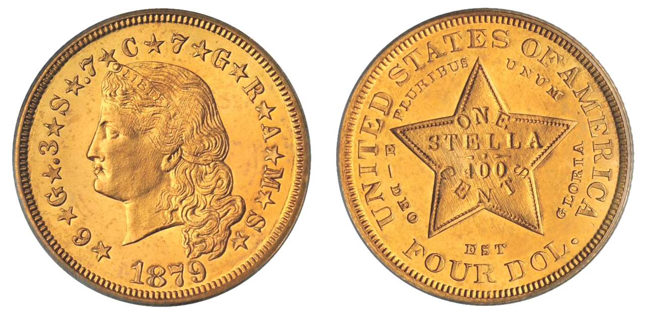 Four-dollar #Gold 1879-1880 'Stella' #Coin  Designed by