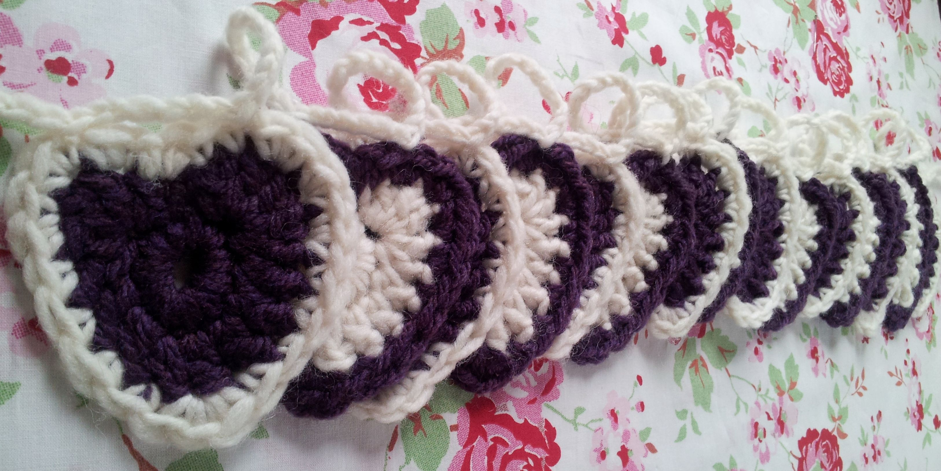 crochet hearts bunting | Crafting | Pinterest
