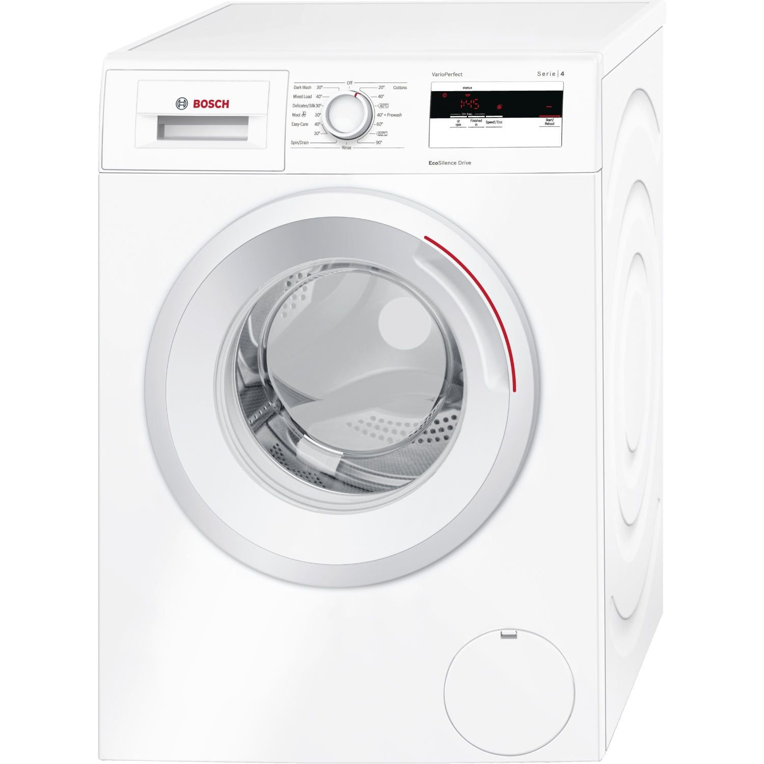 bosch wat28420gb front loading washing machine finished in bright