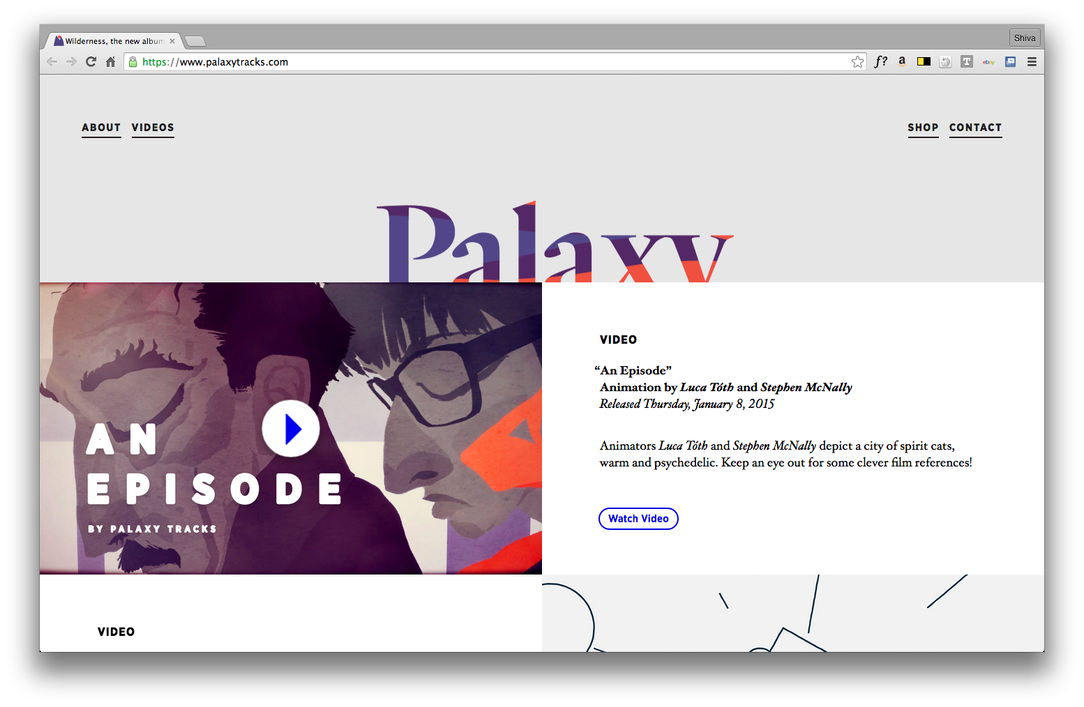 Nice web concept for musical duo https://www.palaxytracks.com/